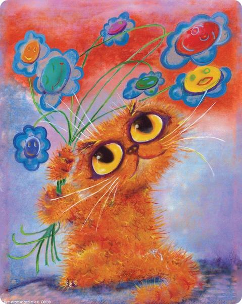 Кошки Бориса Касьянова - Поздравительная картина