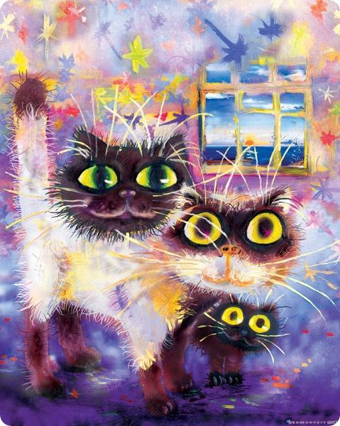 Кошки Бориса Касьянова - На прогулку с мамапапою