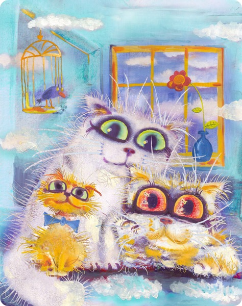 Кошки Бориса Касьянова - Птица, облака,цветок и мы