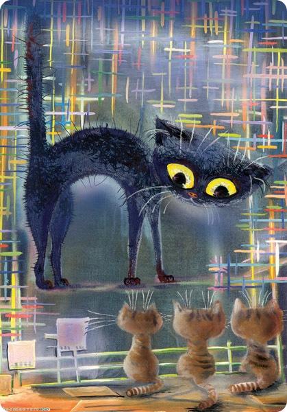 Кошки Бориса Касьянова - В гостях у любимой учительницы