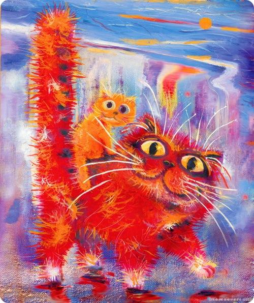 Кошки Бориса Касьянова - Купание красного кота