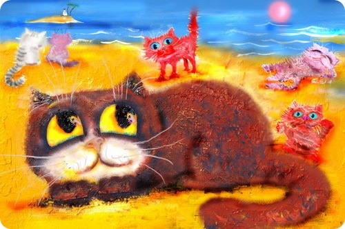 Кошки Бориса Касьянова - На пляжу, что ли?