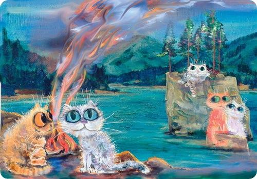 Кошки Бориса Касьянова - Алтай - костерок до неба