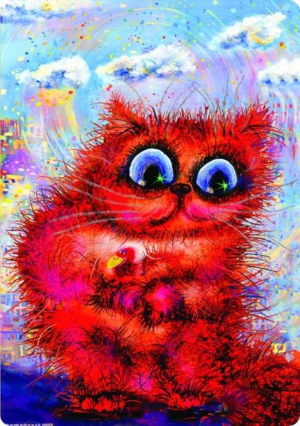 Кошки Бориса Касьянова - Кот с красной ласточкой