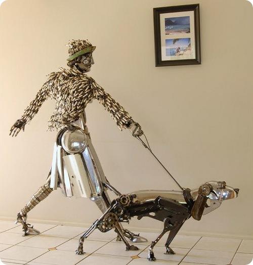 Животные из металлолома