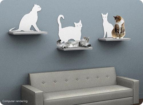 Полка для кошек Cat Silhouette от The Refined Feline