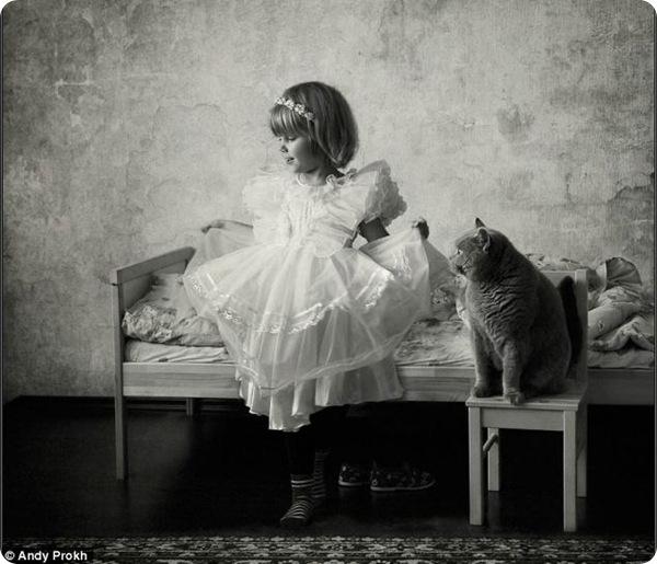 О дружбе ребёнка с кошкой