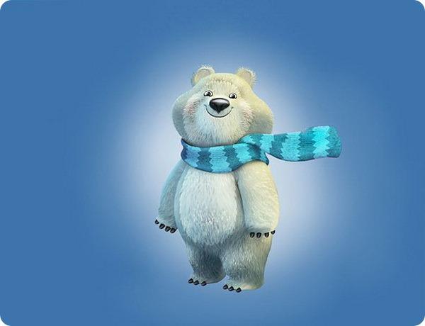 Талисманы зимних Олимпийских игр 2014 - Мишка
