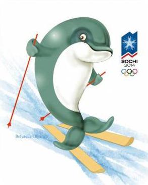 Дельфин - талисман Сочи 2014
